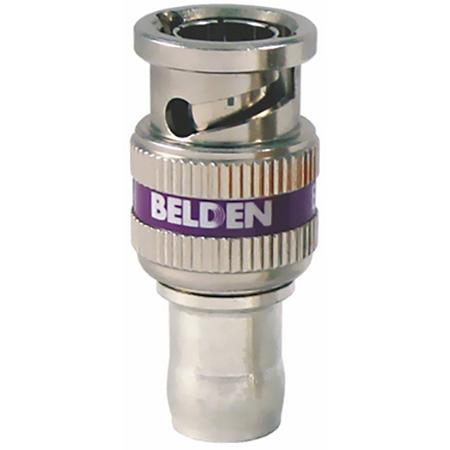 Belden 4855RBUHD1 12GHz UHD 1-Piece BNC Compression Connector for 4855R Mini-RG59