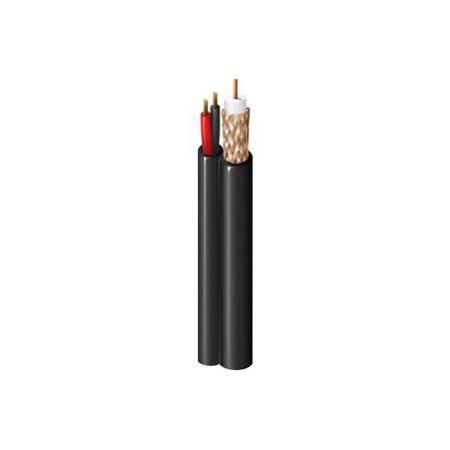 Belden 549945 New-Gen Siamese RG59 CCTV/Audio/Pan/Tilt Cable - Black 500Ft
