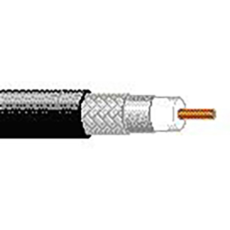 Belden 7733A Plenum RG-8/U 50ohm Cable - Black - Per Foot