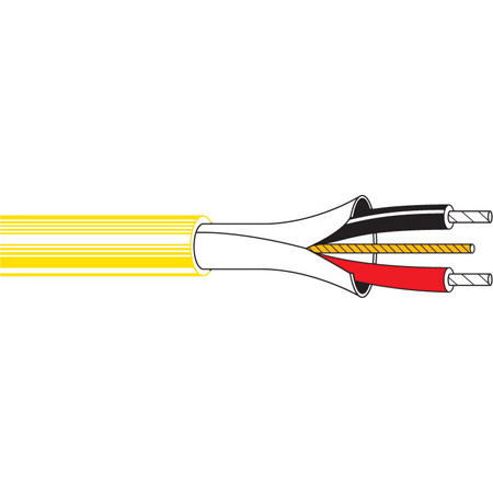 Belden 9451 2-Conductor Paired Mic Cable 1000 Ft Yellow-box only