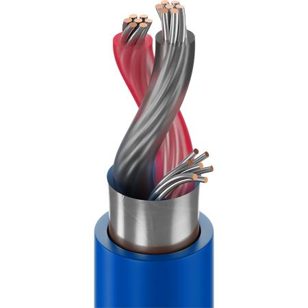 Belden 9451P 1 Pair Flamarrest 22AWG Audio Cable 1000ft Blue
