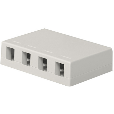 Belden AX105354-EW KeyConnect Side Entry Box without Shutter Door - 4 Port