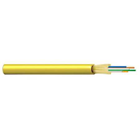 Belden FISD006R9 FX Indoor Riser OS2 Distribution Tight Buffer 6 Fibers OFNR Non-Unitized Yellow Jacket - 1000 Foot Roll