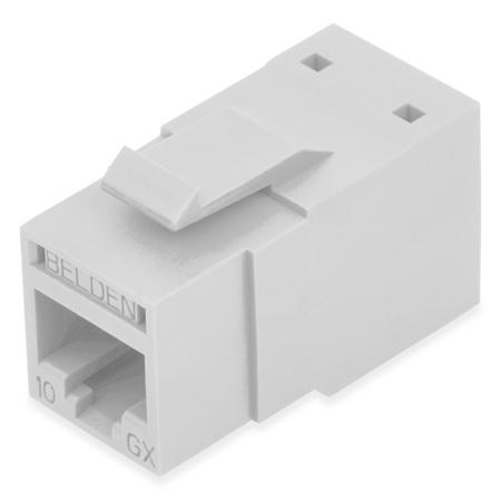 Belden RVAMJKUEW-B24 REVConnect 10GX T568 A/B UTP RJ45 Modular Jack Connector - Electric White - 24 Pack