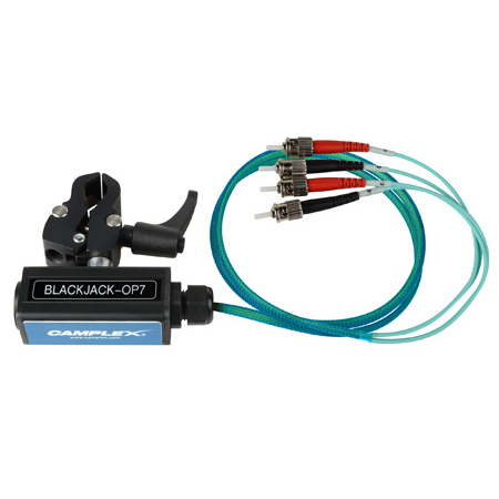 Camplex BLACKJACK-OP7 opticalCON QUAD to Four (4) ST Breakout Adapter - Multimode with Clamp