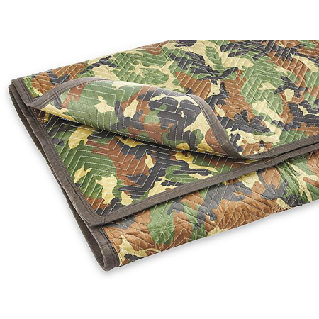 Camouflage Pattern Moving Blanket - 72 x 80 Inches with 30 ounces of filler per yard