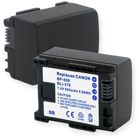 Canon BP-808 7.4V 800mAh LION Battery Replacement