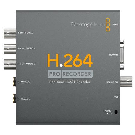 Blackmagic VIDPROREC H.264 Pro Recorder 3G-SDI/HDMI and Analog YUV/S-Video/Composite Video to H.264 Encoder