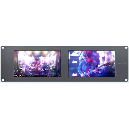 Blackmagic HDL-SMTVDUO2 SmartView Duo2 Dual 8 Inch Intelligent 6G-SDI Rack Monitors