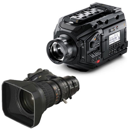 Blackmagic XA20sX8.5BRM-KIT URSA Broadcast Camera & Fujinon 5BRM-K3 MS-01 Semi Servo Rear Control Accessory Kit