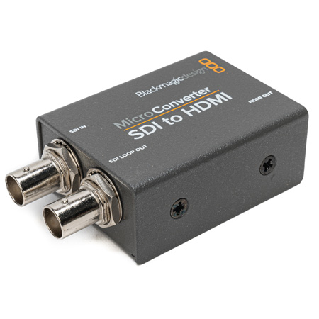 Blackmagic Design BMD-CONVCMIC/SH/WPSU Micro Converter - 3G SDI to HDMI with Power Supply - Bstock (damaged packaging)