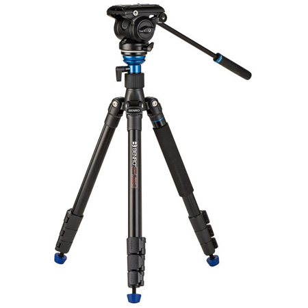 Benro A2883F Travel Angel Aero - Video Tripod Kit with Leveling Column and S4PRO Head