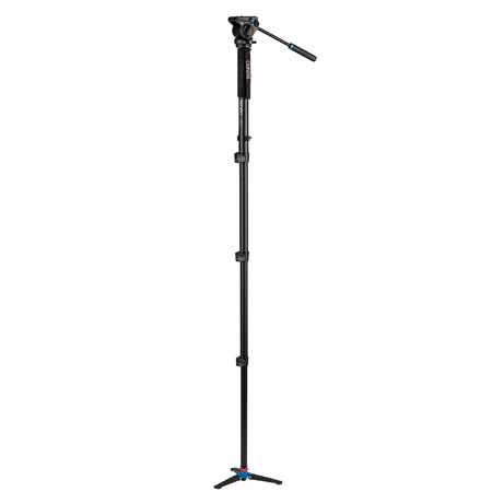 Benro A48FDS4 Aluminum Video Monopod 68.5 Inch Kit with S4 Head and 3 Leg Base