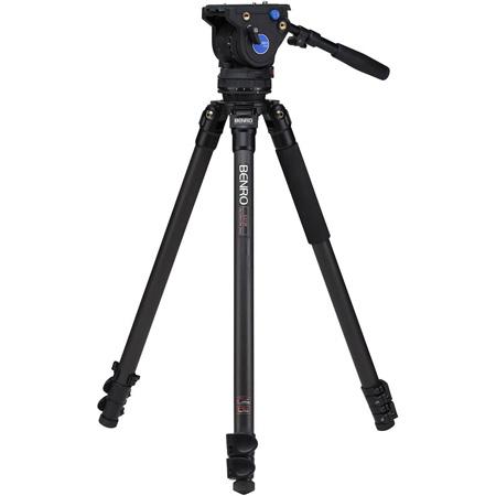 Benro C373FBV6H Series 3 CF Video Tripod & BV6H Head - 3 Leg Sections / Flip Lock Leg Release