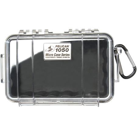 Pelican 1050 Micro Case - Clear Case/Black Liner