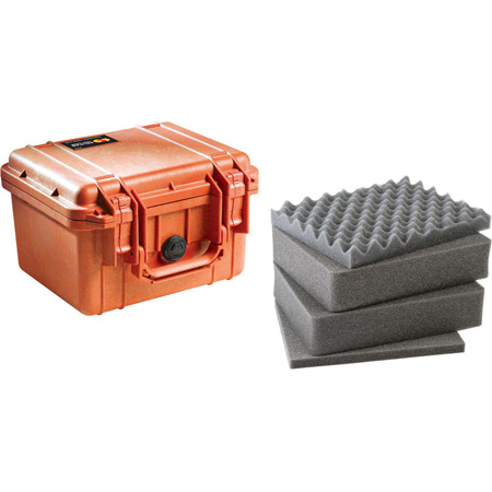 Pelican 1300WF Protector Case with Foam - Orange
