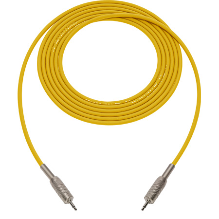Sescom BSC1.5MMYW Audio Cable Belden Star Quad 3.5mm TS Mono Male to 3.5mm TS Mono Male Yellow - 1.5 Foot