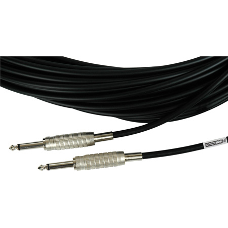 Sescom BSC100SS Audio Cable Belden Star-Quad 1/4 Inch TS Male to Male Black - 100 Foot