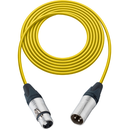 Sescom BSC3XXJYW Mic Cable Belden Star-Quad XLR Male to XLR Female Yellow - 3 Foot