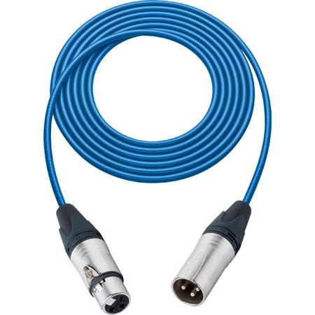 Sescom BSC6XXJBE Mic Cable Belden Star Quad 3-Pin XLR Male to 3-Pin XLR Female Blue - 6 Foot