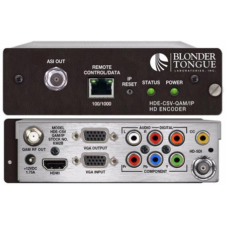 Blonder Tongue HDE-CSV-QAM/IP High Definition MPEG-2 Encoder Module
