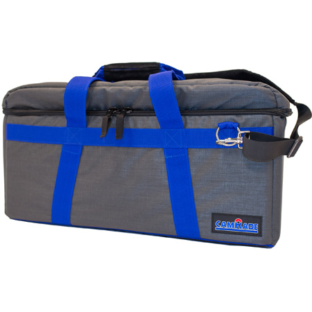 camRade CAM-CB-HD-MEDIUM camBag Hard Padded Camera Bag for Camcorders up to 24.8 Inches - Medium - Gray/Blue