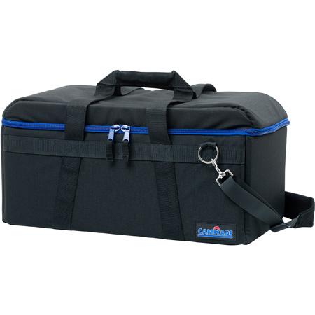 camRade CAM-CB-HD-MEDIUM-BL camBag Hard Padded Camera Bag for Camcorders up to 24.8 Inches - Medium - Black/Blue