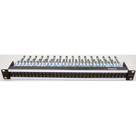 Canare 32MCK-ST 75 Ohm Mid-Size Video Patchbay 12G-SDI Normal Through Panel Loaded with MCVJK-STW