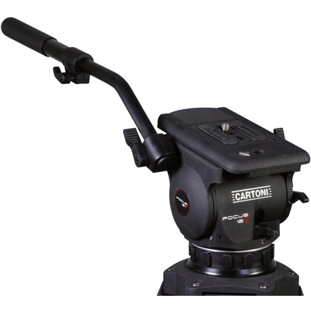 Cartoni HF1200 Focus Head with Euro Style Quick Release Plate - with Pan Bar
