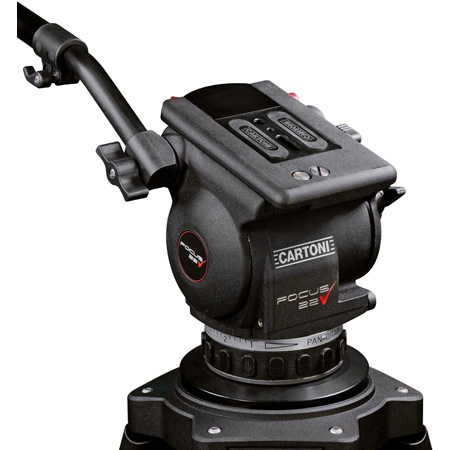 Cartoni HF2200/150 Focus 22 Head with Pan Bar - ENG Camera Support and Interfaces with 150mm Bowl Base Tripods