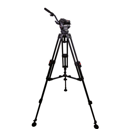 Cartoni KF08-2AM Focus 8 with Long Style Sliding Plate/75mm 2-Stage Aluminum Tripod/ML Spreader/Pan Bar & Soft Case