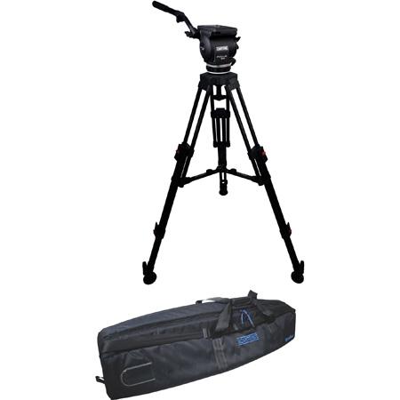 Cartoni KF222CHM FOCUS 22 Head 2 Stage CF 100mm HD Tripod ML Spreader Feet Pan Bar & Soft Case