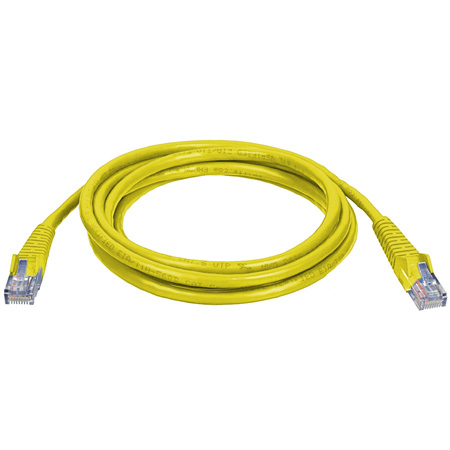Connectronics 350MHz UTP CAT5e Patch Cable 10 Foot Yellow