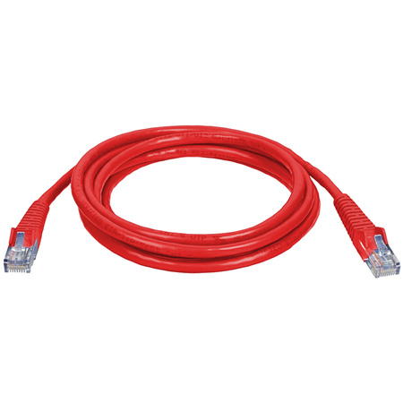 Connectronics 350MHz UTP CAT5e Patch Cable 10 Foot Red