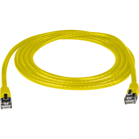 Connectronics Molded Cat6 UTP Patch Cable 24AWG 50u 3 Foot Yellow