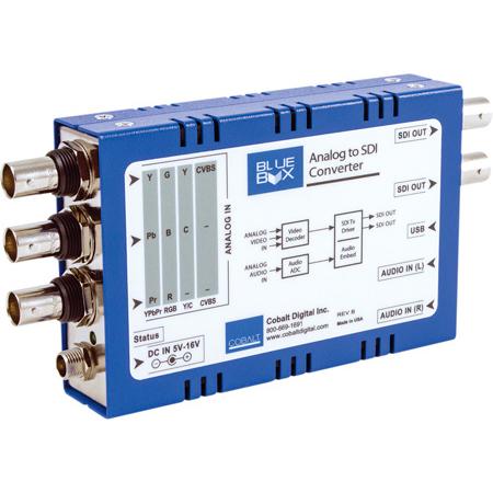 Cobalt Digital BBG-ATOS Blue Box HD/SD Analog Component/Composite-To-HD/SD-SDI with Audio Embedder