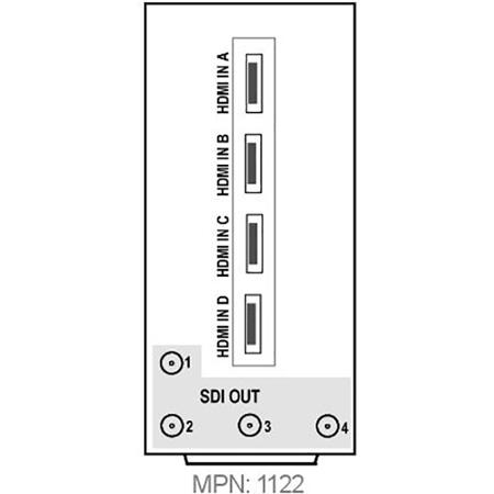 Cobalt RM20-9926-B-HDBNC 20 Slot Frame Rear I/O Module for 9926 openGear Converter