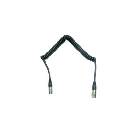 Frezzolini CC-44 Coiled 4-Pin XLR-M to 4-Pin XLR-F Power Cable 2-6 Ft.