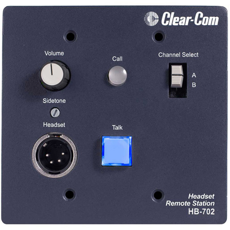 ClearCom HB-702 Encore Intercom System 2-Channel Remote Headset Station