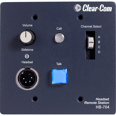 Clear-Com HB-704 Encore Intercom System 4-Channel Remote Headset Station