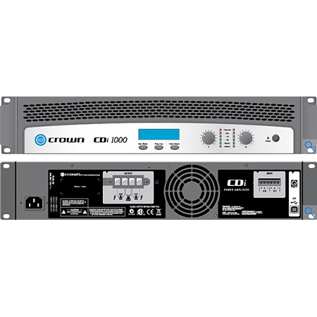 Crown CDI-1000 2-channel - 500W/4 Ohms - 70V/140V Power Amplifier