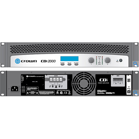 Crown CDI-2000 2-channel - 800W/4 Ohms - 70V/140V Power Amplifier