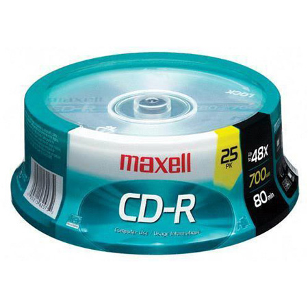Maxell 48x Write-Once CD-R 25pc Spindle