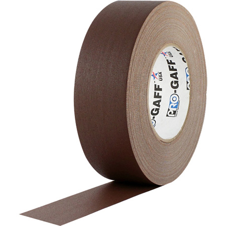Pro Tapes 001UPCG255MBRN Pro Gaff Gaffers Tape CGT-60 2 Inch x 55 Yards - Chocolate Brown