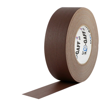 Pro Tapes 001UPCG355MBRN Pro Gaff Gaffers Tape CGT3-60 3 Inch x 55 Yards - Chocolate Brown