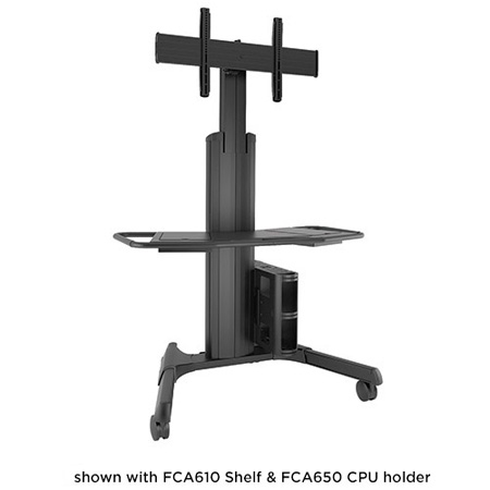 Chief LPAUB Large FUSION Manual Height Adjustable Mobile TV Cart/Stand