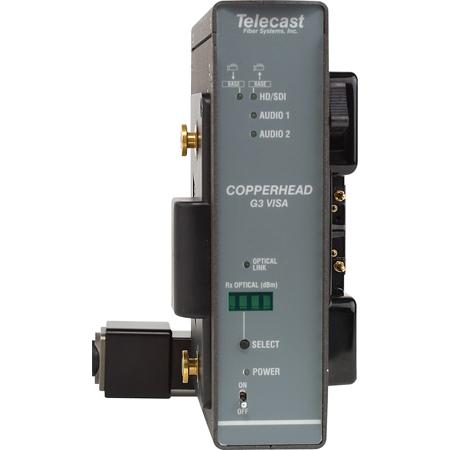 CopperHead Pro Camera Mount HD/SDI to OpticalCon Fiber Transceiver w/Anton Bauer
