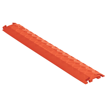 Checkers FL1X1.5-O FastLane 1 Channel Drop Over Cable Protector - 3 Foot - Orange