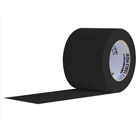 Pro Tapes 001CP430MBLA 4 Inches x 30 Yards Black Cable Path Tape (No-Print)
