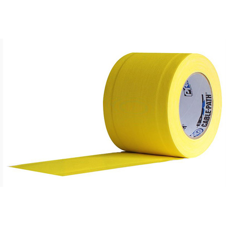 Pro Tapes 001CP430MYEL 4 Inches x 30 Yards Yellow Cable Path Tape (No-Print)